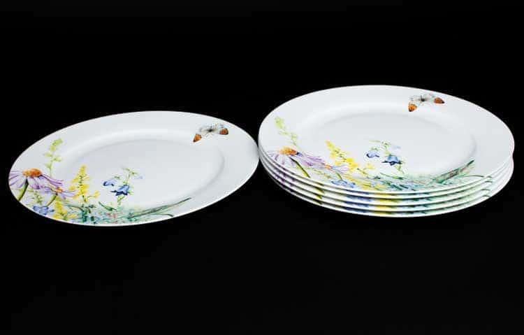 Дейзи Бабочки Набор тарелок 6 шт. 20 см Rulanda