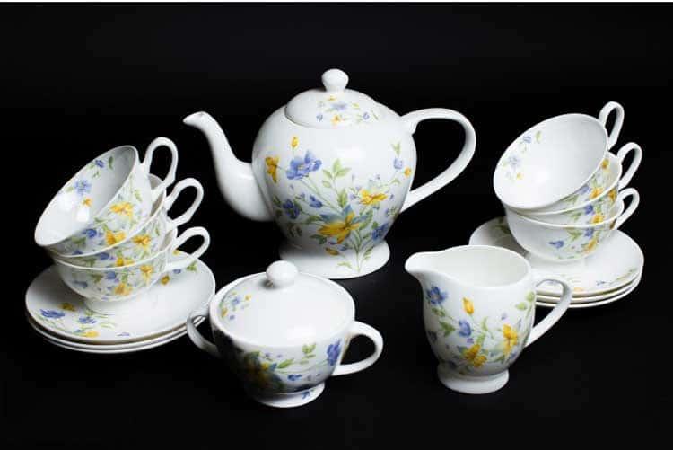 Сиреневый цветок Чайный сервиз Rulanda на 6 персон 15 предметов