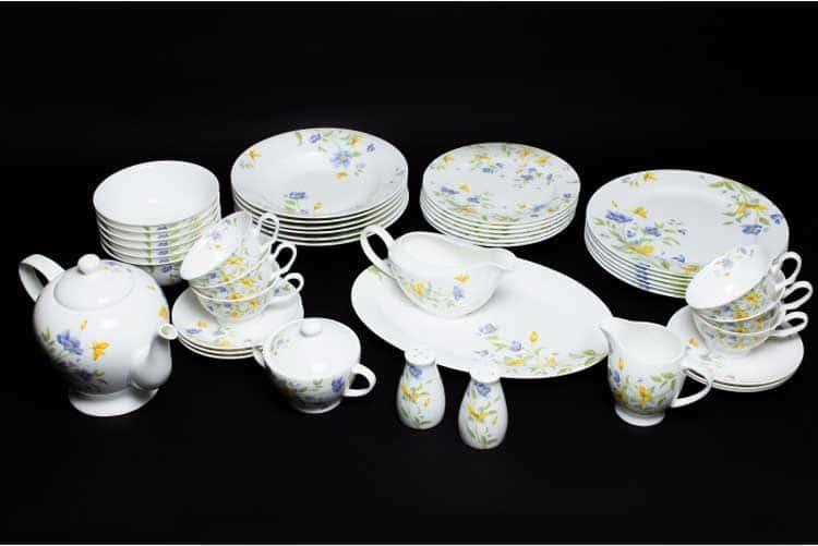 Сиреневый цветок Чайно-столовый сервиз 6 персон 45 предметов Rulanda