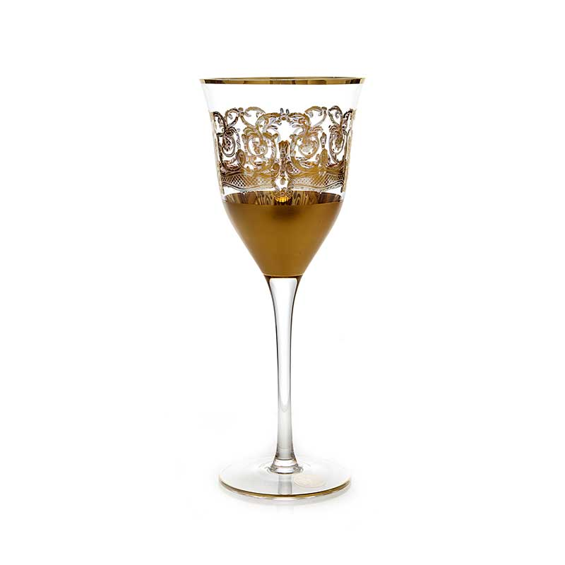 Набор бокалов для вина Тимон золото на 6 перс.