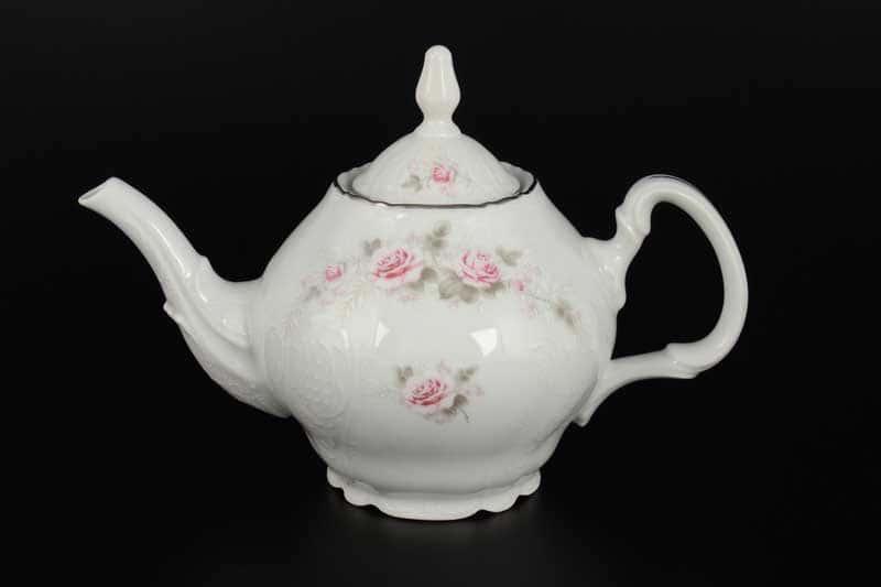 Бернадотт Серая роза платина 96021 Чайник 0,7 л