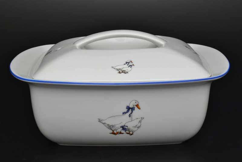 Гуси Блюдо для запекания с крышкой Thun 28 см жаропрочный фарфор