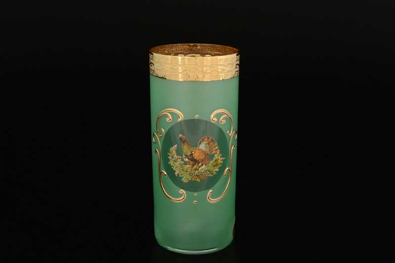 Версаче Охота зеленая U-R Набор стаканов для воды 300 мл (6 шт)