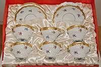 Мейсенский цветок Набор чайный Weimar на 6 персон 18 предметов подарочный