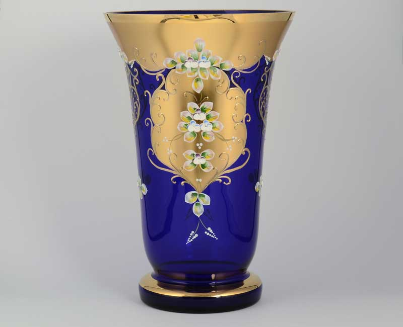 Лепка синяя S-A Ваза для цветов Sonja 40 см на ножке