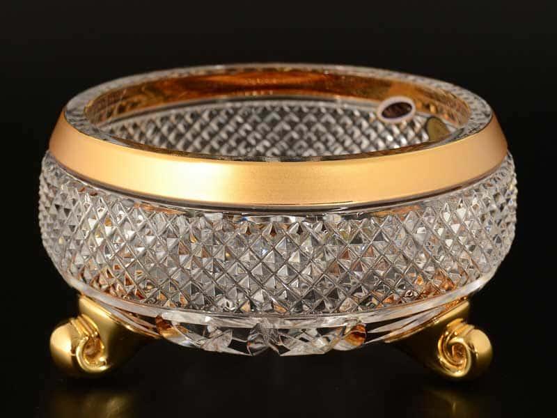 Max Crystal Золото Тройножка варенница Bohemia 15 см