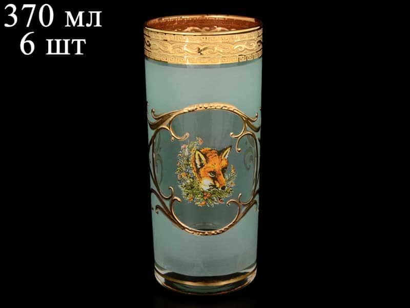 Версаче Охота зеленая B-G Набор стаканов для воды (6 шт)