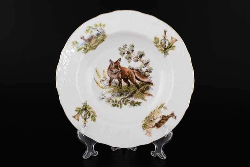 Бернадотт Охота Набор глубоких тарелок из фарфора 23 см