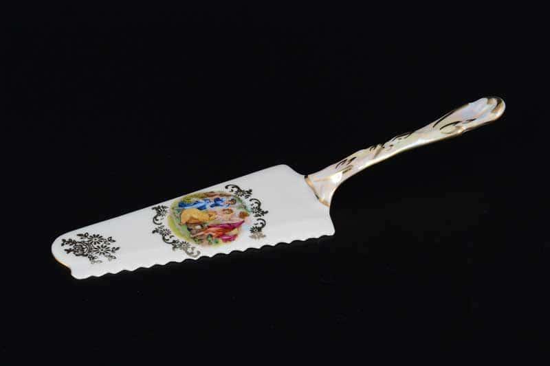 Мадонна перламутр Корона 0001 Лопатка для торта QC 24 см