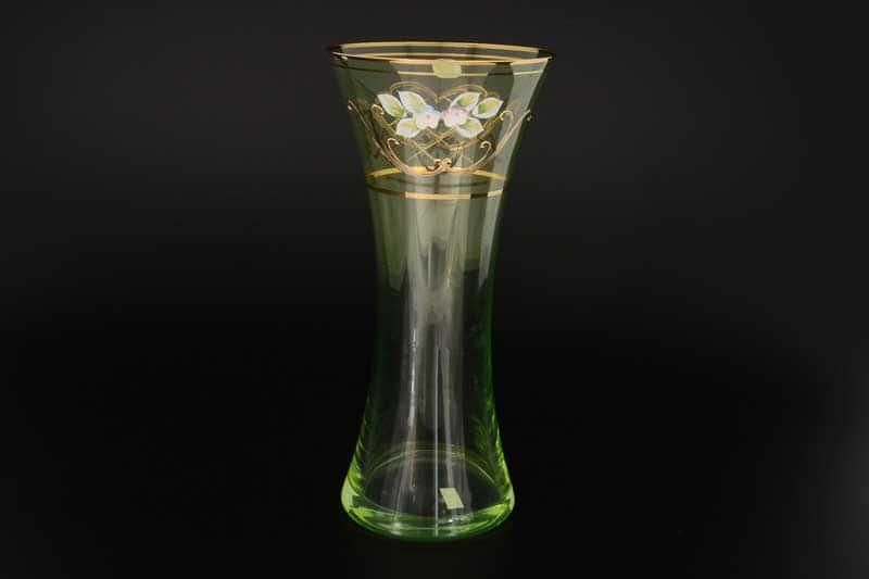 V0024 зеленая иксовка Ваза для цветов Bohemia Crystal 30 см