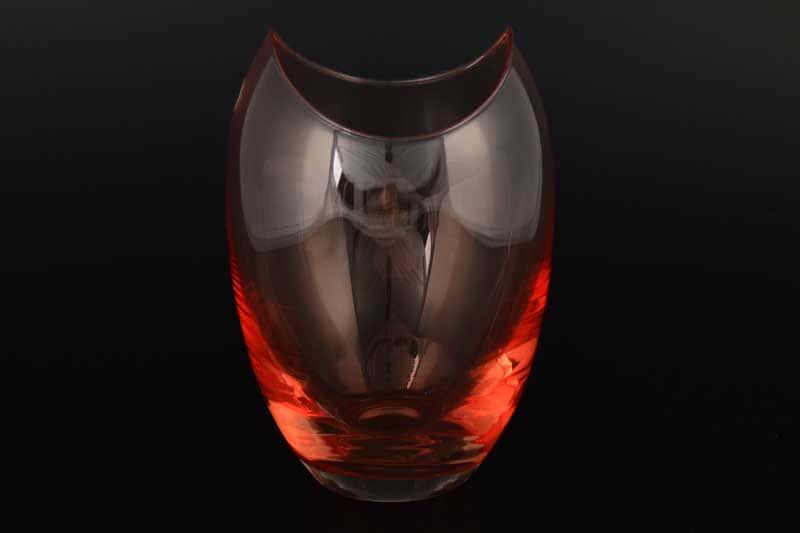 Gondola Кристалекс Цветочница красная Bohemia Crystal 18х12 см
