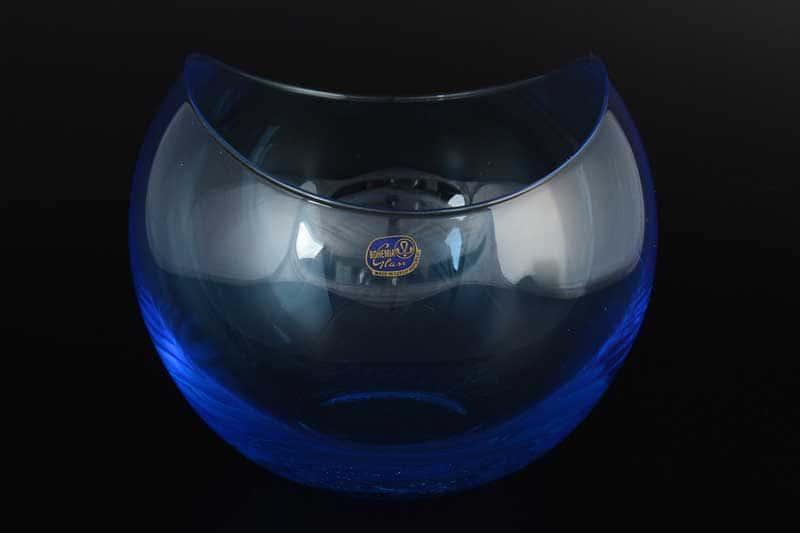 Gondola Кристалекс Ваза для конфет голубая Bohemia Crystal 14х16 см