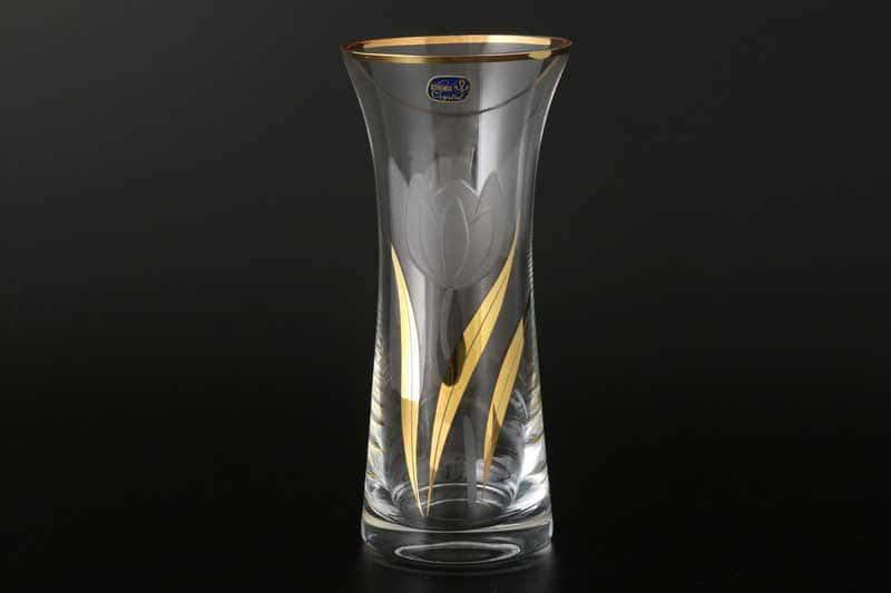 Идеал X Тюльпан Ваза для цветов Bohemia Crystal 23 см