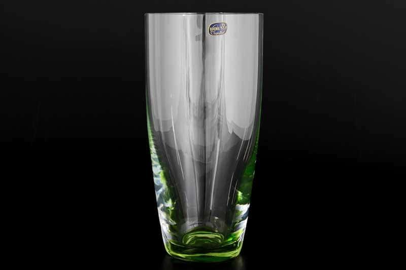 Waterfall Кристалекс Ваза для цветов Bohemia Crystal 25 см зеленая
