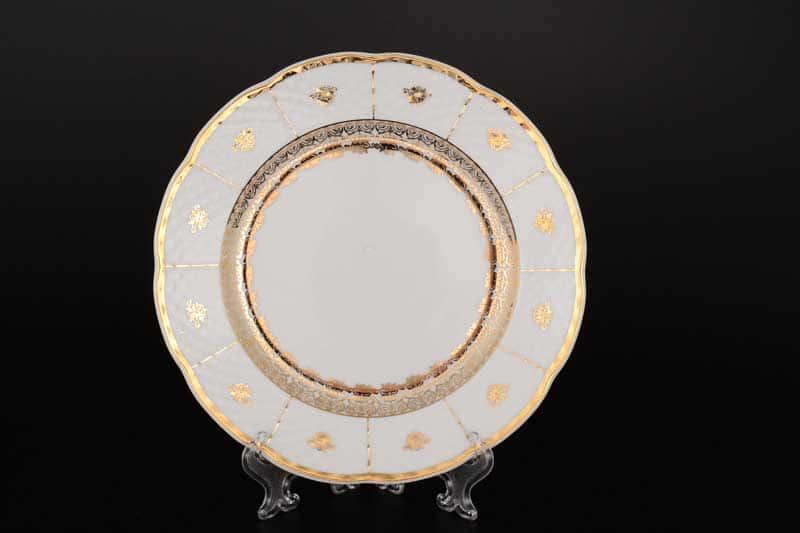 Менуэт Отводка золото Набор тарелок Thun 24 см (6 шт)