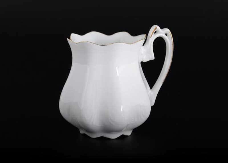 Белый узор Корона Кружка для чая QC