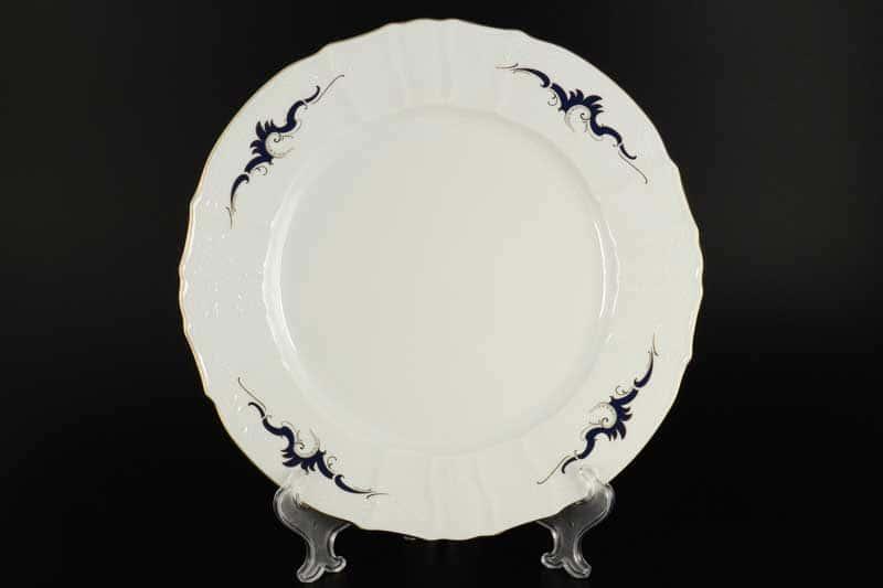 Бернадотт Синие вензеля Блюдо круглое 30 см