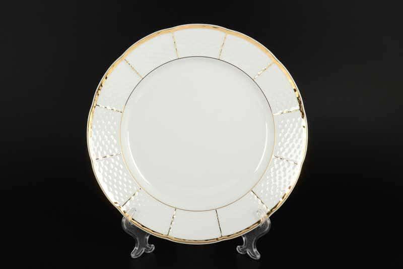 Менуэт Обводка золото Набор тарелок Thun 24 см