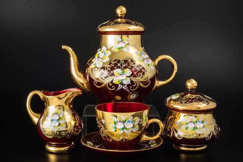 Лепка гранат E-V Чайный сервиз Bohemia на 6 персон 15 пр