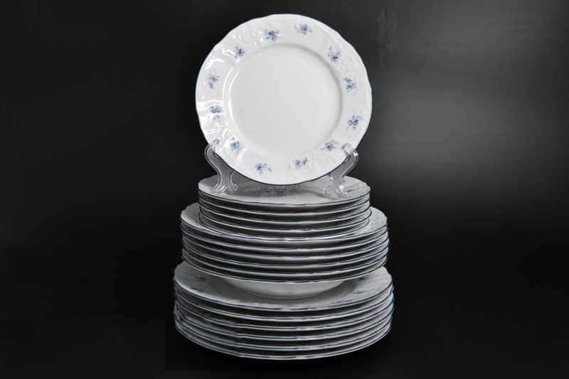 Бернадотт Синий цветок Набор тарелок 18 предметов