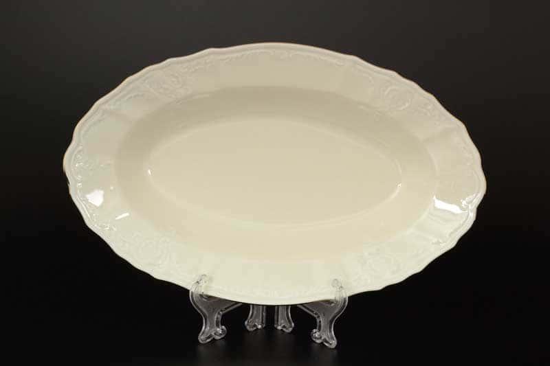 Бернадотт Белый узор BE-IVORY Блюдо овальное 24 см