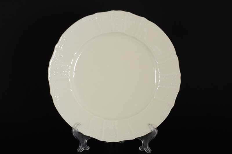 Бернадотт Белый узор BE-IVORY Блюдо круглое 30 см