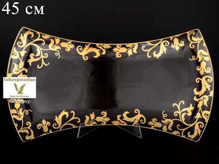 Tosca Black Gold Блюдо сервировочное Falken 45 см