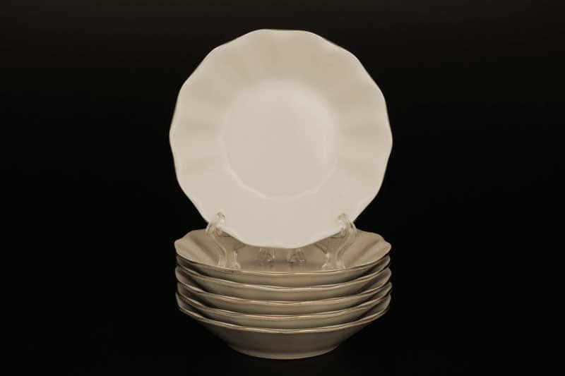 Бернадотт Белый узор BE-IVORY Набор розеток 11 см (6 шт)