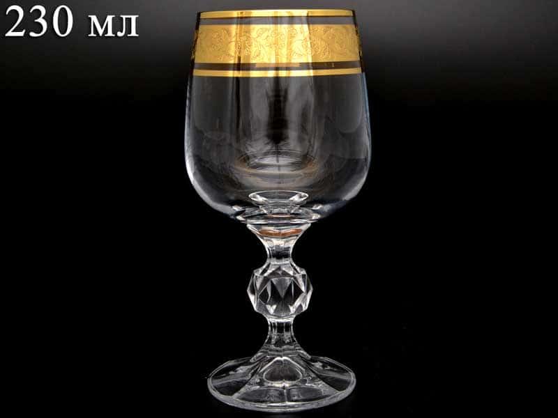 Клаудиа Золото Фужер для вина Crystalite 230 мл (1 шт)