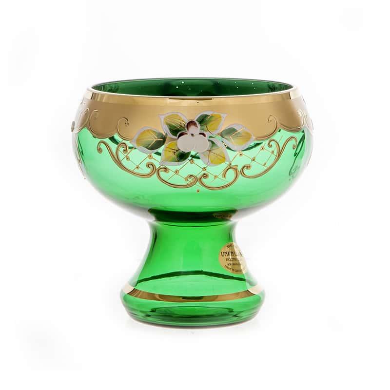 Лепка зеленая 5849 Ваза для конфет U. Glass 15 см