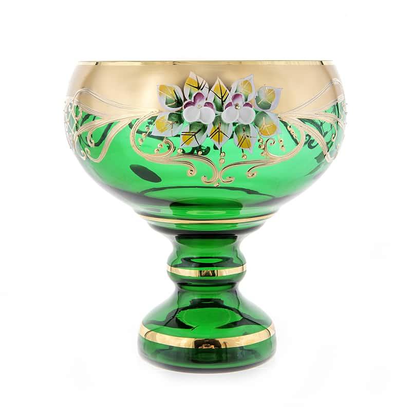 Лепка зеленая 9823 Конфетница на ножке U. Glass 16 см