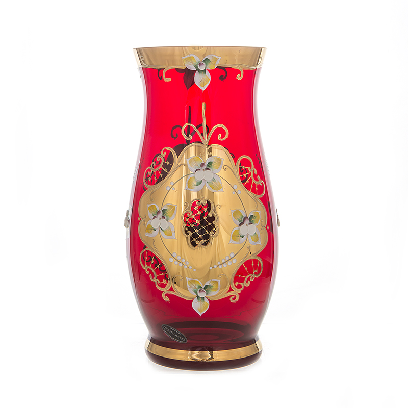 Лепка красная 8304 Ваза для цветов 26 см U. Glass