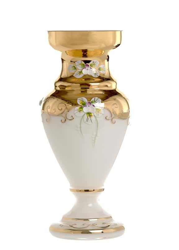 Лепка белая 83219 Ваза для цветов 26 см U. Glass