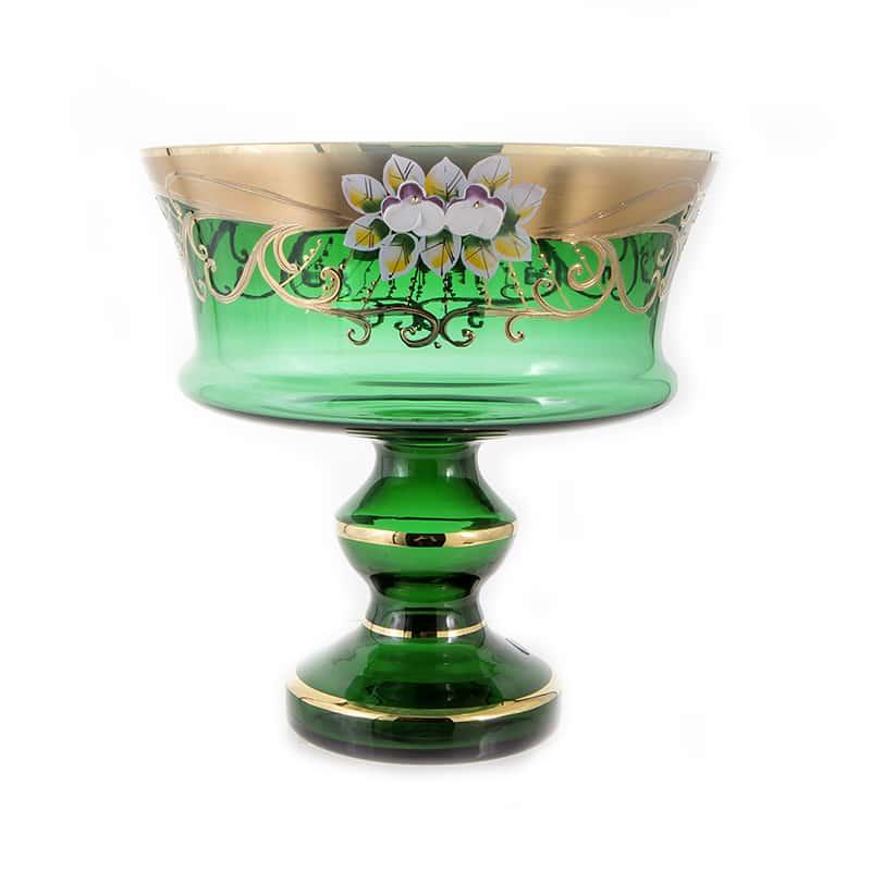Лепка зеленая 6999 Ваза для фруктов 24 см U. Glass