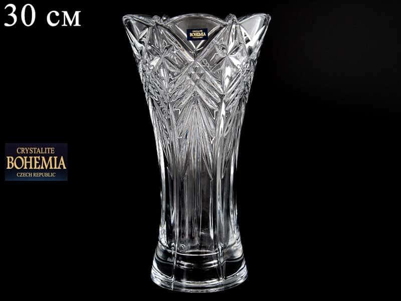 TAURUS Ваза для цветов иксовка Crystalite Bohemia 30 см