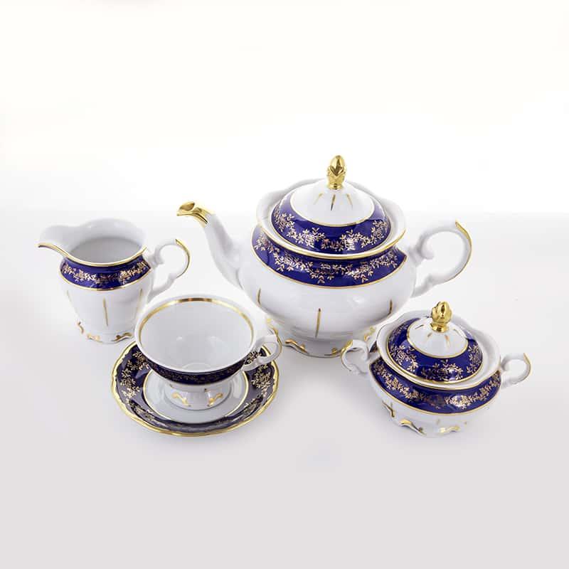 Борокко кобальт Форма Фредерика Сервиз чайный Bavarian на 6 персон 15 предметов