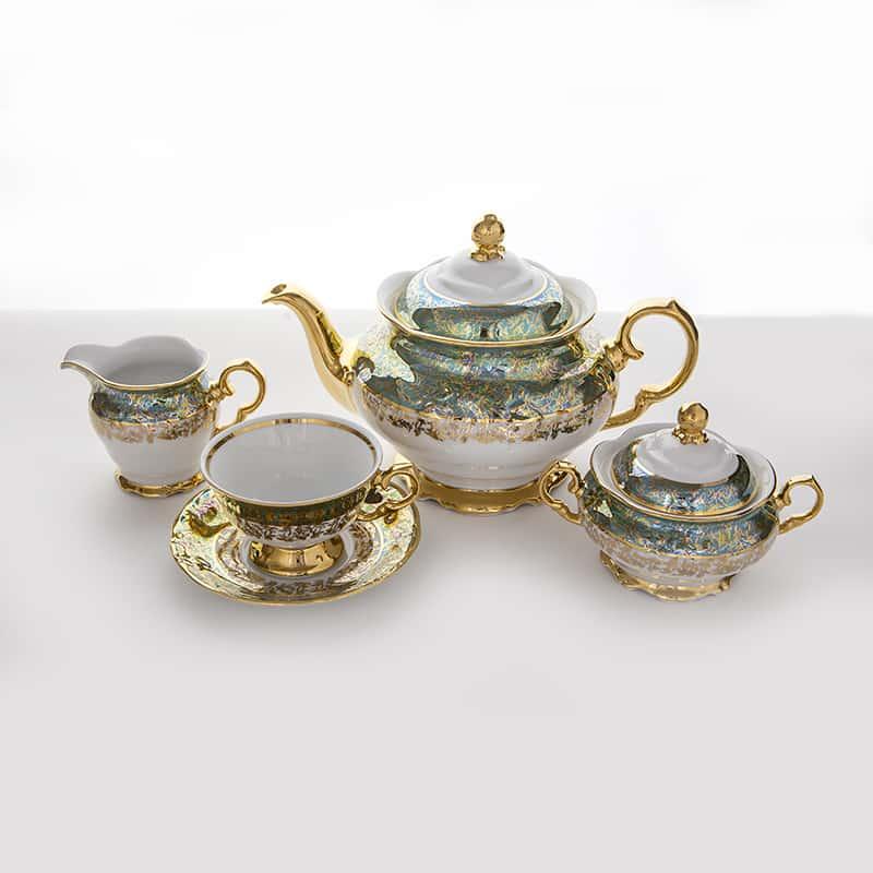 Лист зеленый Сервиз чайный Carlsbad на 6 перс. 15 пред.