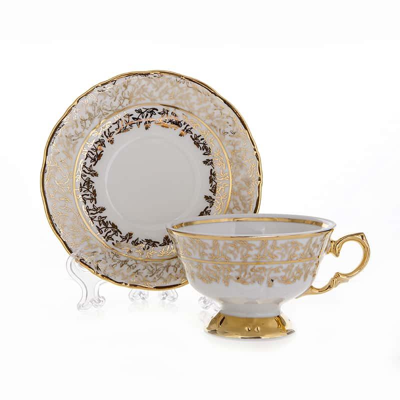 Лист белый Набор для чая Carlsbad на 6 перс. 12 шт.