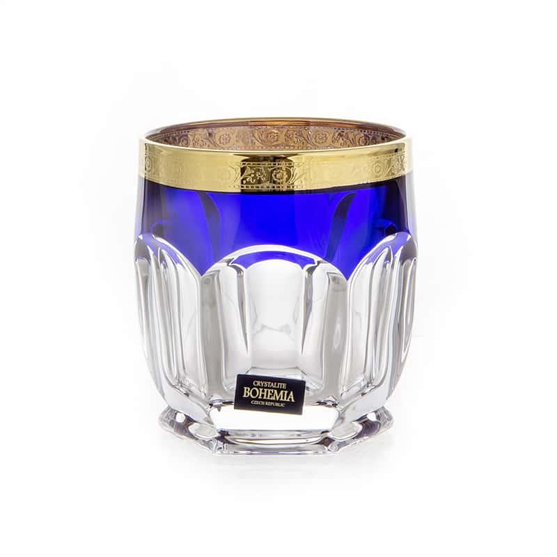 Сафари Синие Набор стаканов для виски 250 мл Crystalite
