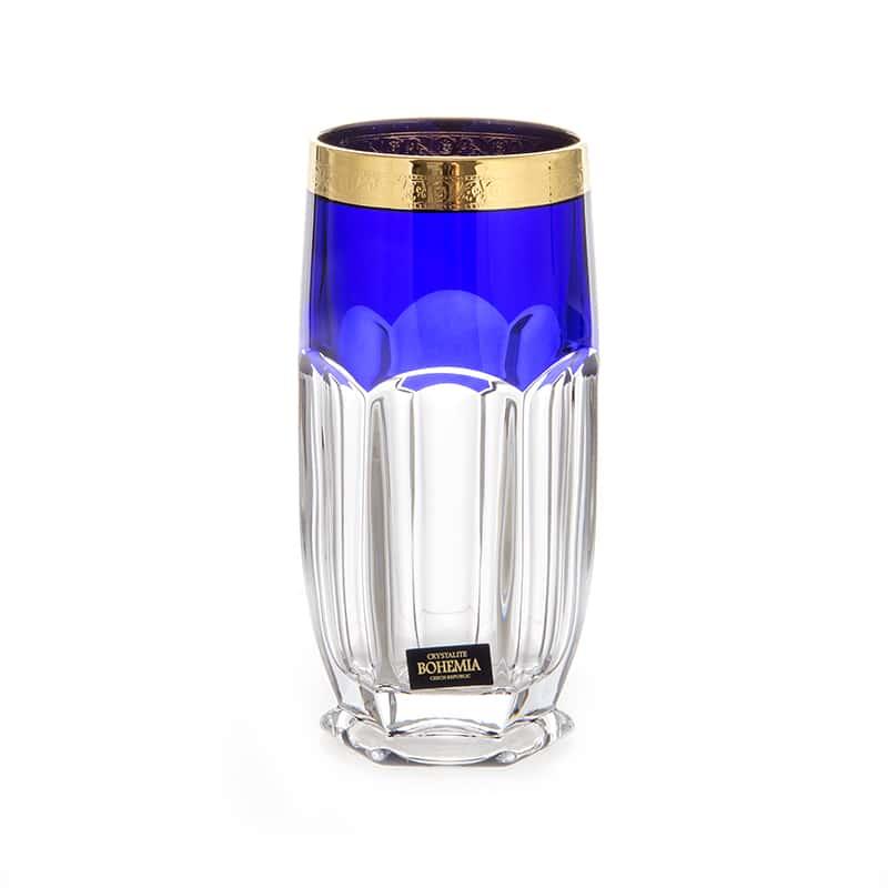 Сафари Синие Набор стаканов для воды 300 мл Crystalite