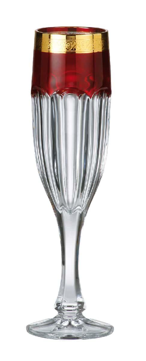Сафари Рубин Набор фужеров для шампанского 150 мл Crystalite 17795