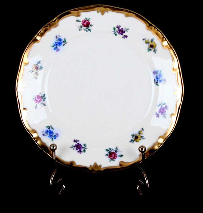 Мейсенский цветок Набор тарелок Weimar 17 см из фарфора