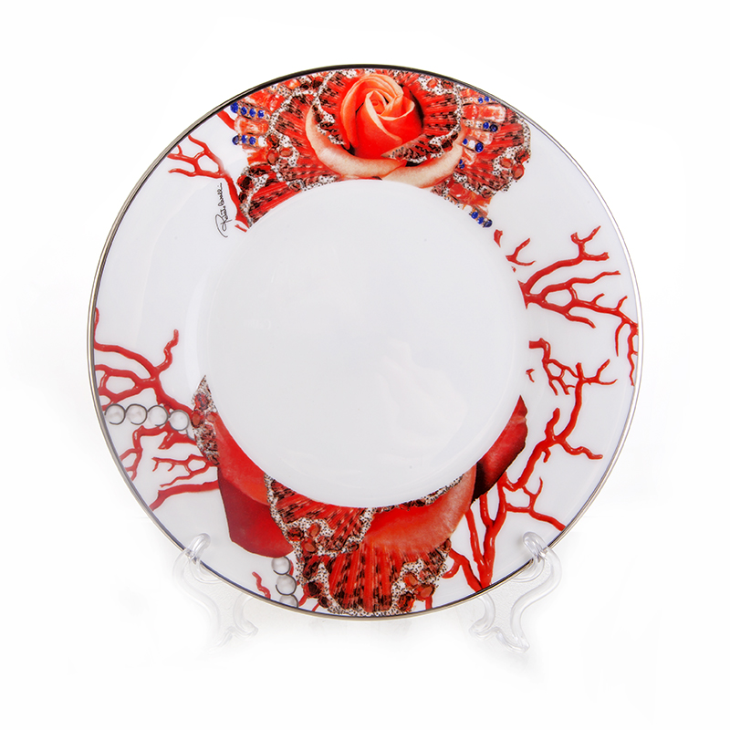 Роза Джевел Набор тарелок 21,5 см Roberto Cavalli