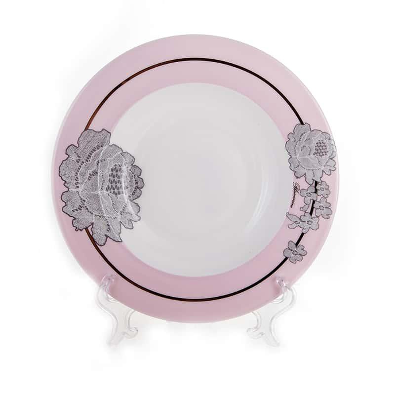 Роза Лаке Набор тарелок глубоких 22,2 см Blumarine