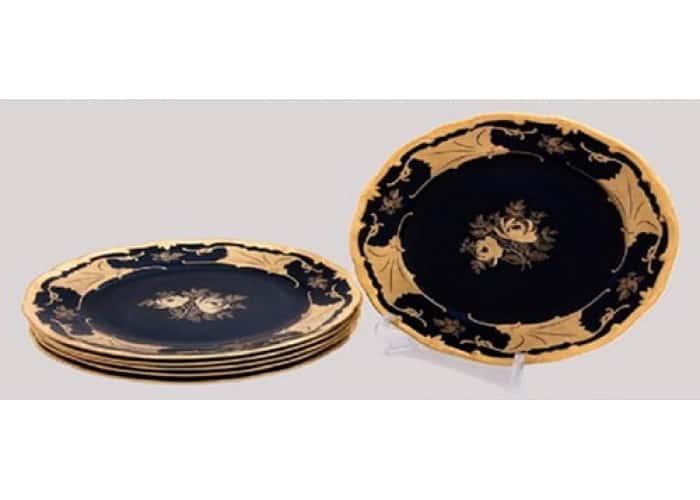 Кленовый лист синий Набор тарелок Weimar 15 см