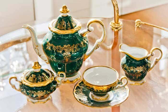 Ювел зеленый 876 Сервиз кофейный на 6 перс. 15 пред. Weimar