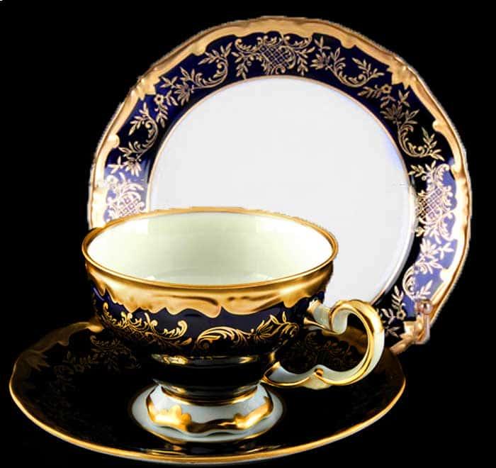 Ювел синий Набор чайный 210 мл 6 перс. 18 пред. Weimar