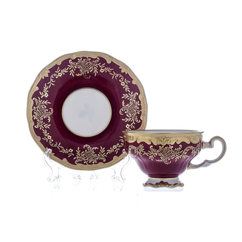 Ювел красный Набор для чая 210 мл 6 перс. 12 пред. Weimar  подарочный