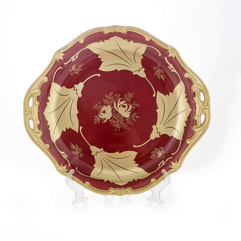 Кленовый лист красный Блюдо круглое 28 см Weimar