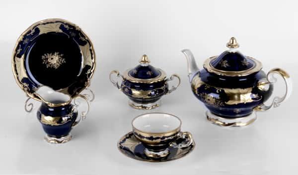 Кленовый лист синий Сервиз чайный Weimar на 6 перс. 21 пред. подарочный